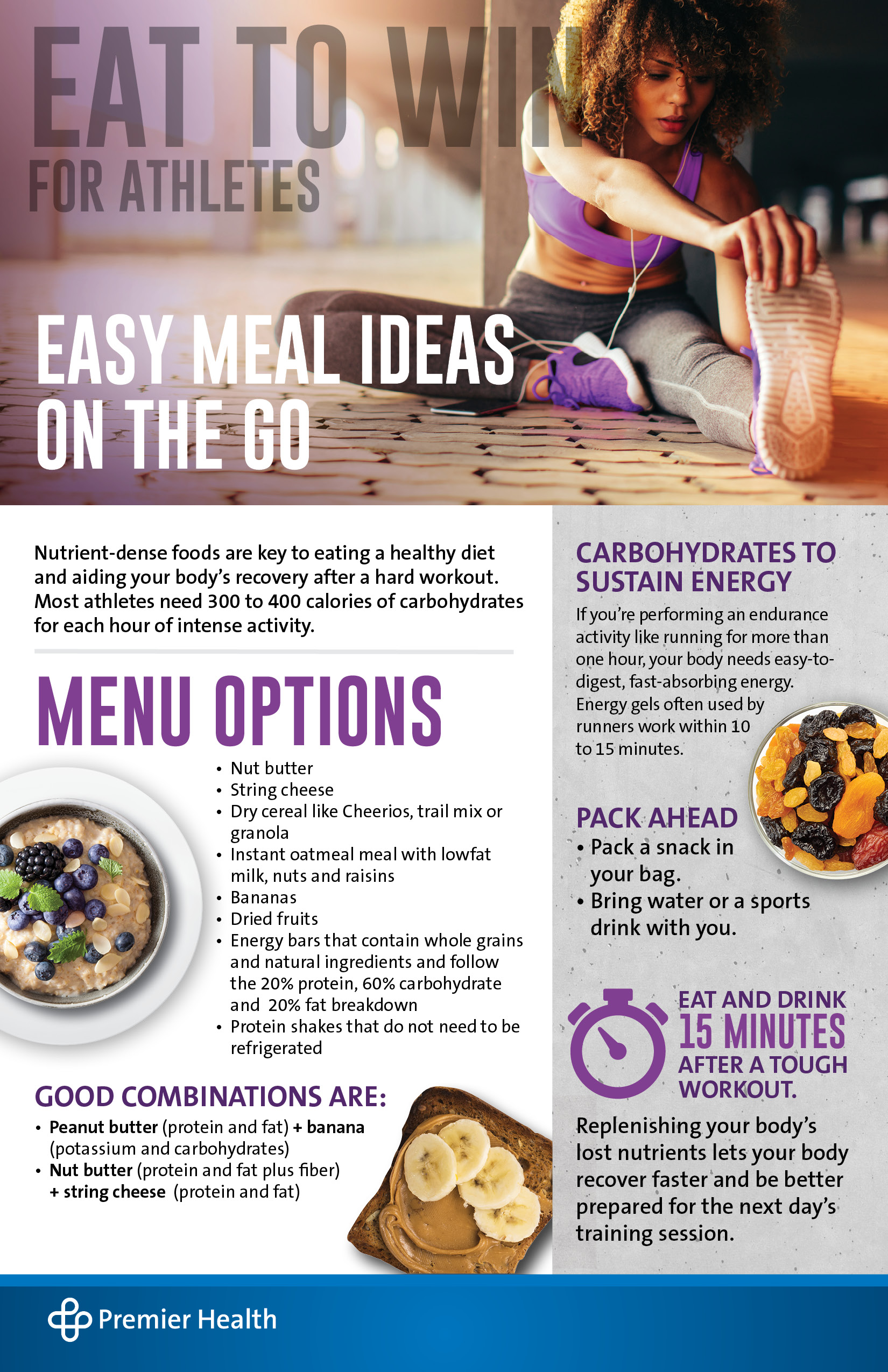 Eat to Win Meal Ideas Infographic
